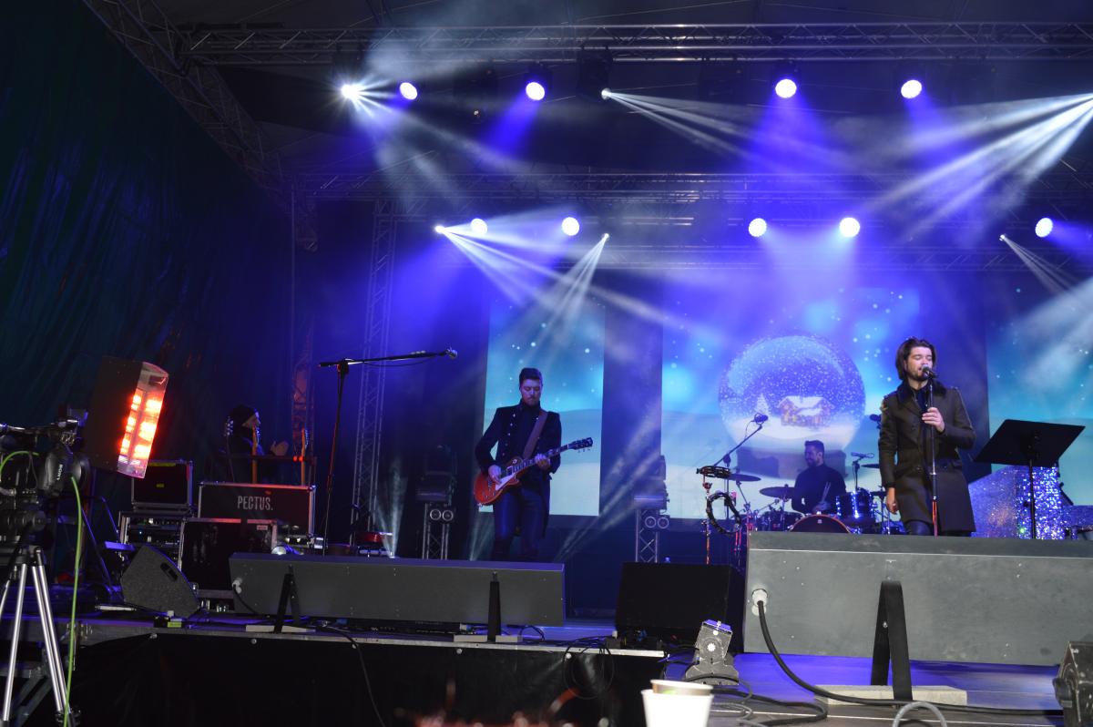 Ogrzewanie sceny – koncert plenerowy zespołu  PECTUS – Bielsko-Biała Grudzień 2017